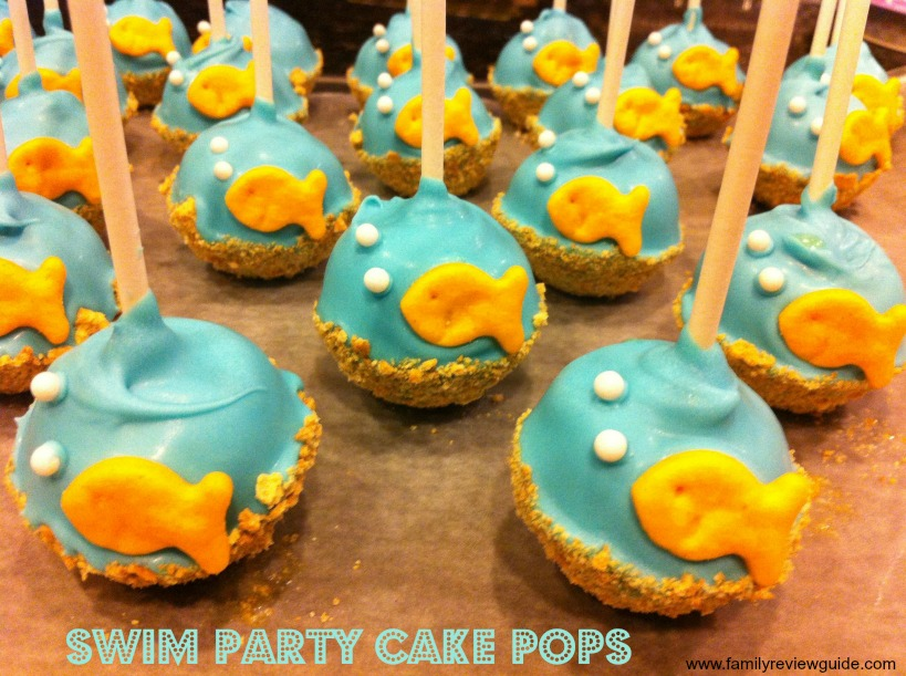 Beach Cake Pops With A Goldfish