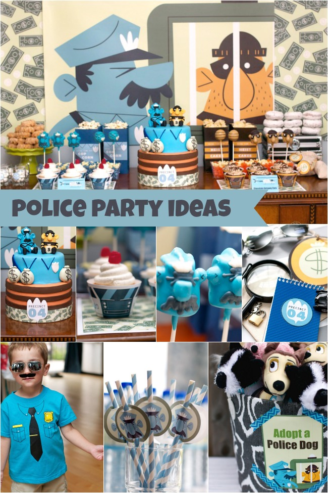 Police Themed Baby Shower Cake